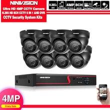 Sistema de seguridad CCTV H.265, HD, 1080P, 5MP, 8 canales, AHD, DVR, kit de 8*4mp, 2560*1440p, juegos de cámaras de seguridad de vídeo de exterior para interiores