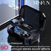 G02 Bluetooth Headphones TWS Wireless earphone IPX7 Waterproof earbuds 5.0 Bluetooth Headset W/MIC 3300mAh Wireless headphones