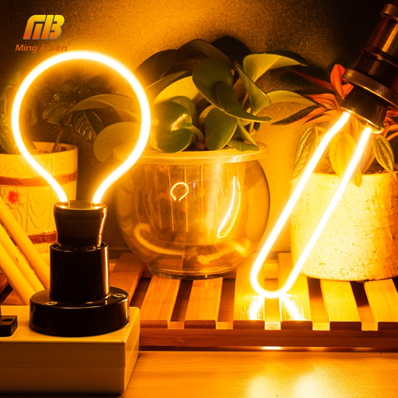Retro LED Edison Light Bulb E27 220V Soft Filament Lamp Ampoule Lighting Incandescent Bulb Industrial Decoration For Bar Cafe