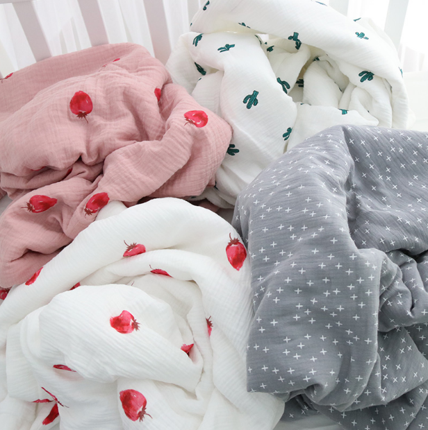 Cartoon Quilt Bamboo Baby Muslin Blanket Muslin Tree Swaddle Better Than Anais Baby/bamboo Blanket Infant Wrap