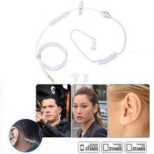 цена на SOONHUA Air Tube Security Earphone Professional Audio-Visual Single Earphones In-Ear Headset With Ear Plug For IOS For Android
