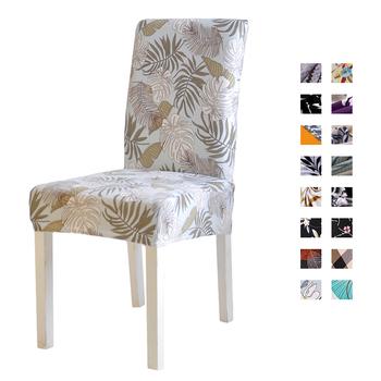 Wydrukowano elastyczny pokrowiec na krzesło krzesło obejmuje zdejmowane i zmywalne Stretch bankiet Hotel jadalnia tanie i dobre opinie FORCHEER Party Chair Covers Dining Chair Covers Printed Pastoral Wedding Chair Arm Chair Hotel Chair Beach Chair Banquet Chair