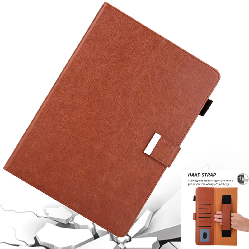 Full Body Protection Cover for <font><b>IPad</b></font> Pro 11 2018 A2013 HandStrap Smart Wake Sleep Card Holder Soft TPU <font><b>Case</b></font> for <font><b>IPad</b></font> Pro 11 <font><b>A1980</b></font> image