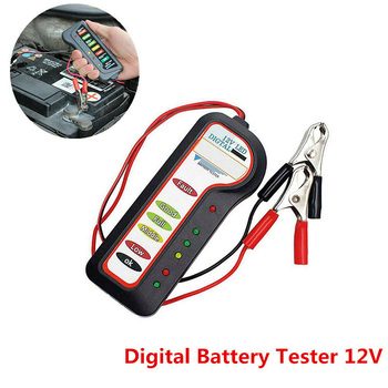 1PCS Car Motorcycle Digital Battery Tester Alternator Load 12V Vehicle 6 LED Display image