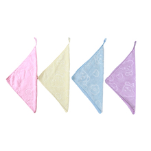 Microfiber Small Square Towel Quick Drying 2021 High Quality With Hook Pattern Super Soft Baby Daily Supplies