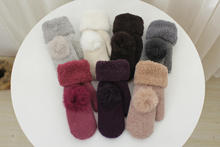 Classic Winter High-grade Wool Ladies Gloves with Double-layer Thickened  Cashmere Household Merchandises