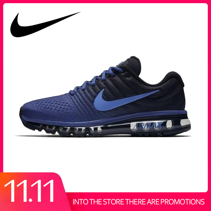 Original Authentic Nike Air Max 2017 Men's Running Shoes Fashion Outdoor Sports Shoes Comfortable Breathable Designer 849559
