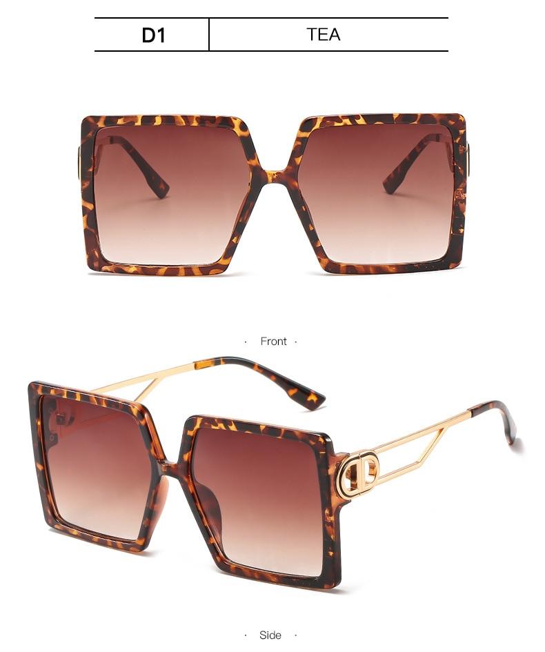 Fashion Sunglass Designer Luxury Brand Square Sunglasses Women Vintage Oversized 2021 trend Female Sun Glasses Shades For Women (12)