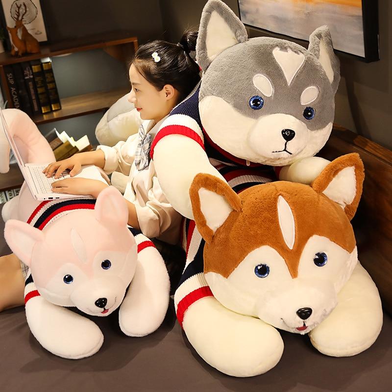 Kawaii 130cm Large Shiba Inu Dog Plush Toy Stuffed Animal Dog Sleeping Pillow Gift Plush Toy