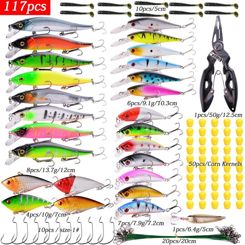 Mix Wobbler Set Crankbaits Fishing Lure Kit Fresh/Salt Water Isca Artificial Hard Bait Wobblers For Bass Fishing Tackle Goods