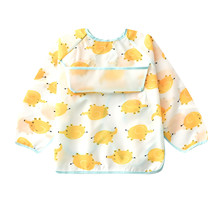 Bibs Apron Feeding-Bib Pocket Long-Sleeve Mickey Minnie Girl Baby-Boy Cloth with Child