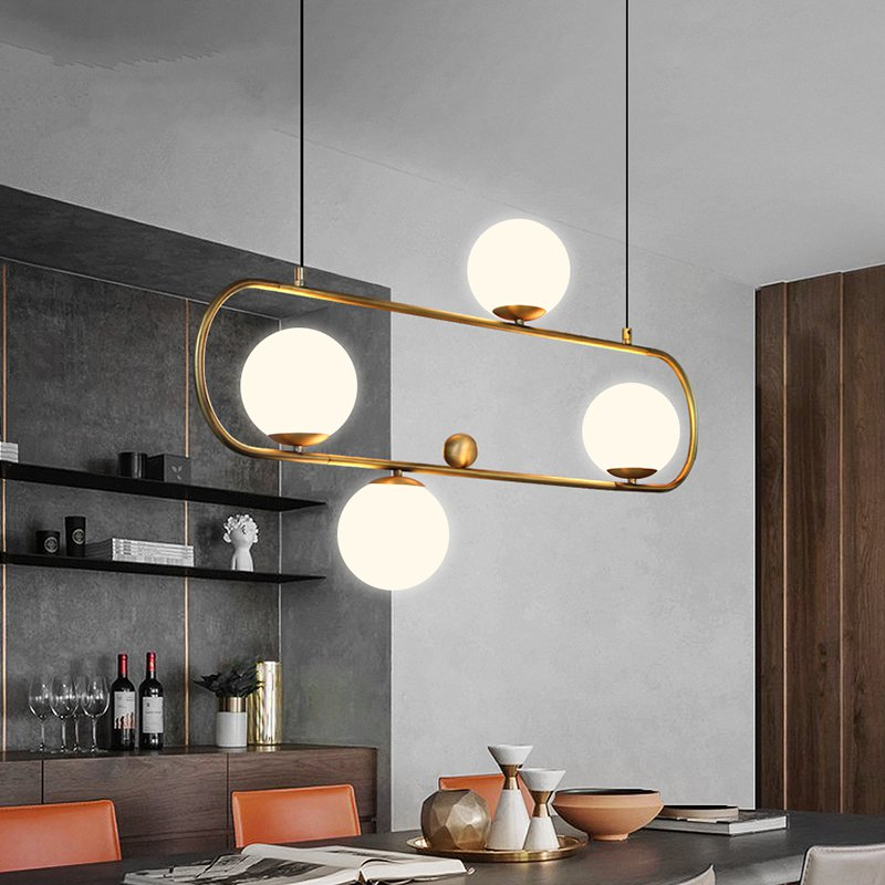Modern Pendant Lights Lustre Loft Decor Reading Bar Dining Room Pendant Lamp Bedroom Cafe Living Room Glass Ball Light Fixtures Pendant Lights     - title=