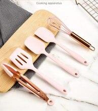 Ручка из розового золота набор силиконовых кухонных принадлежностей