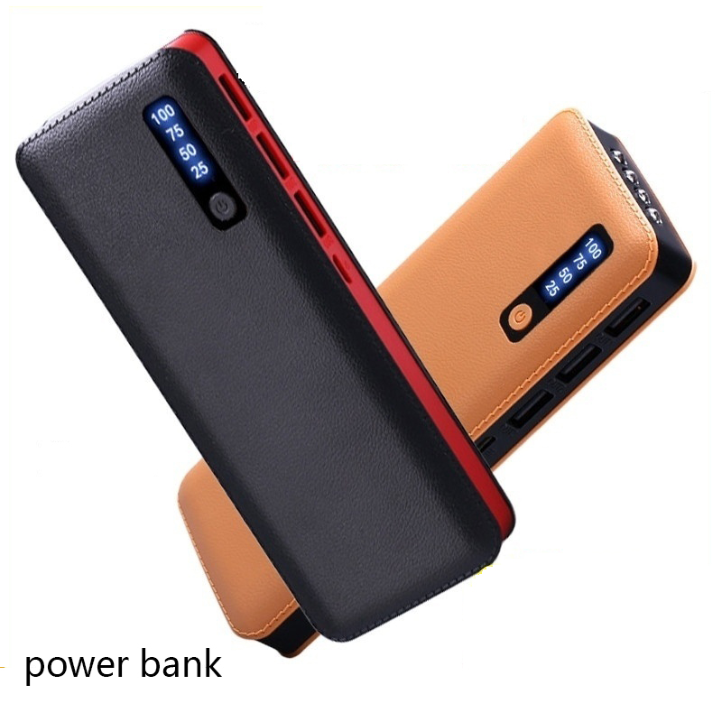 Waterproof Portable <font><b>Power</b></font> <font><b>Bank</b></font> <font><b>30000</b></font> <font><b>MAh</b></font> for <font><b>Xiaomi</b></font> All Smart Phone Battery Powerbank Fast Charging External Battery 3 USB LED image