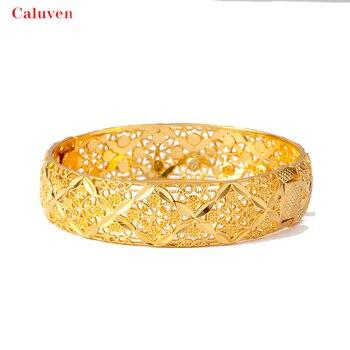 4 sztuk/partia złoty kolor dubaj bransoletki dla kobiet bransoletki i bransoletki etiopii bliski wschód biżuteria ślubna afryki prezenty