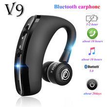 V8 v9 fones de ouvido bluetooth handsfree sem fio fone de ouvido de negócios unidade chamada esportes para iphone samsung