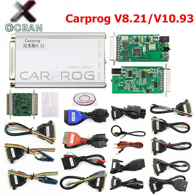 Perfect Online Carprog FW V8.21 V10.93 Full Set Auto Repair Tool Car Prog 8.21/10.93 Airbag/Radio/Dash/ECU Programmer