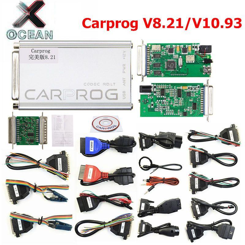 Perfect Online Carprog FW V8.21 V10.93 Full Set Auto Repair Tool Car Prog 8.21/10.93 Airbag/Radio/Dash/ECU Programmer