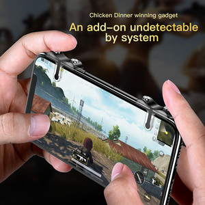 Image 4 - Baseus For PUBG Mobile Gamepad Joystick L1R1 Mobile Phone Game Shooter Controller Trigger Fire Button Handle for iPhone Android