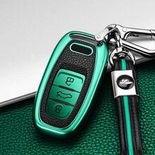 Лидер продаж ТПУ + кожаный чехол для автомобильного смарт ключа