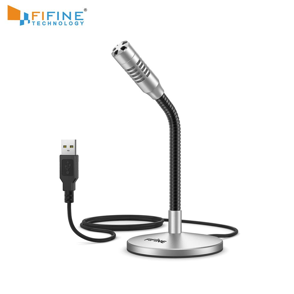 FIFINE Mini Gooseneck USB Microphone For Computer&Laptop Plug&Play Ideal For YouTube,Gaming,Streaming,Voiceover,Discord -K050S
