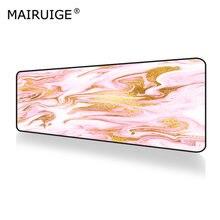 Мраморный Блестящий Золотой и розовый коврик для мыши геймер