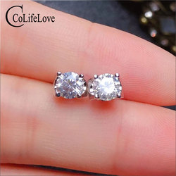CoLife de 100% Real anillo, pendientes para boda de plata 925 pendientes de Moissanite de plata anillo de la joyería