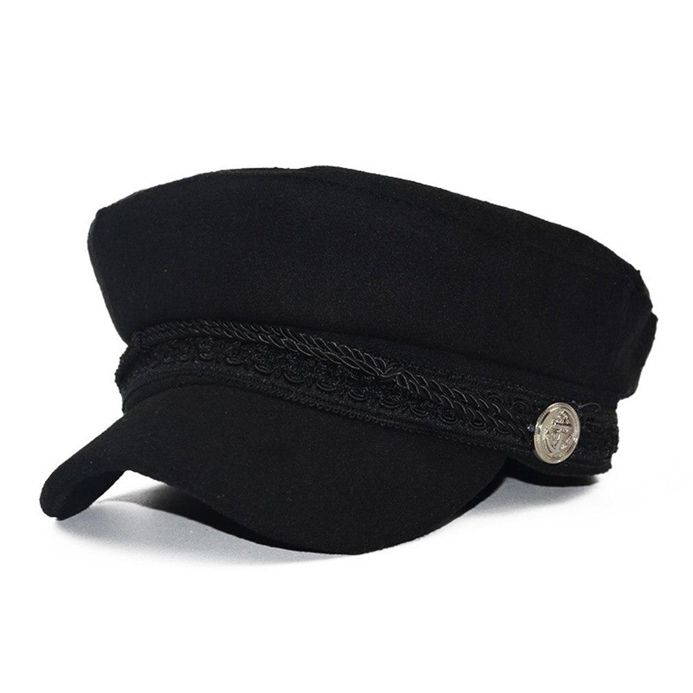 Winter Hats For Women Military Cap Vintage Cotton Wool Beret Cap Gorras Planas Snapback Caps Female Casquette Ladies Headwear