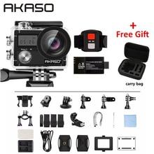 AKASO Brave 4 4K 20MP WIFI HD Action Camera Ultra with EIS 30m Underwater Waterproof Remote control 5X Zoom Helmet Sport cam