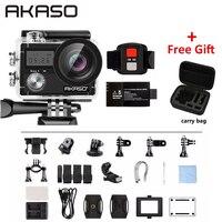 AKASO Brave 4 4K 20MP WIFI HD kamera akcji ultra HD z EIS 30m podwodny wodoodporny pilot 5X Zoom kask kamera sportowa w Kamera sportowa od Elektronika użytkowa na