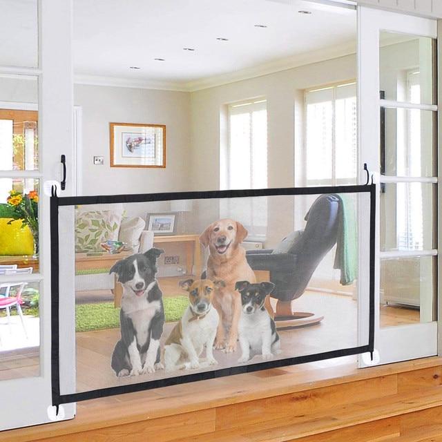 Magic Folding Dog Gate Indoor/Outdoor Safety Enclosure  1