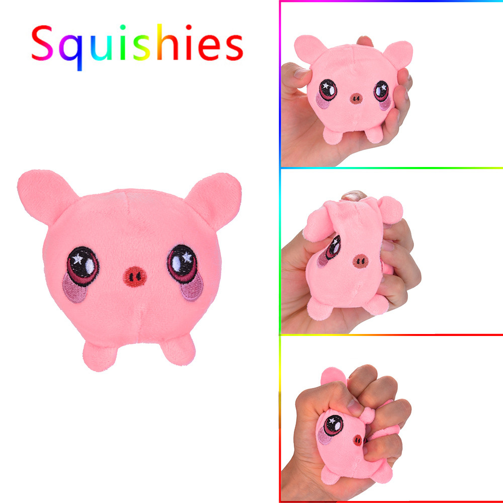 Piggy Plush Slow Rebound Furry Scented Stuffed Slow Rising Toys Stress Relief Toy Hop Props Decoration Decoration Toy L0110