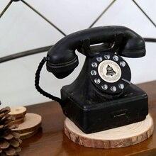 1x teléfono decoración antiguo Dial rotatorio teléfono modelo Vintage cabina llamada KYY9005