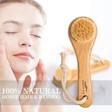 1pc szczotka do twarzy drewniane sierść zwierzęca głębokie oczyszczanie twarzy usuwająca zaskórniki masaż przybory do pielęgnacji produkt do mycia Dropship