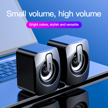 Bluetooth Speaker USB Computer Speakers 3D Stereo Bass Sound Subwoofer Music Player for PC Laptop Desktop Multimedia Loudspeaker 2
