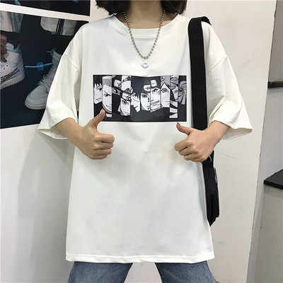 ZSIIBO 나루토 반팔 티셔츠 남자 조수 브랜드 학생 커플 맞춤 의류 여성 dropshipping 채식주의 자 슬리브