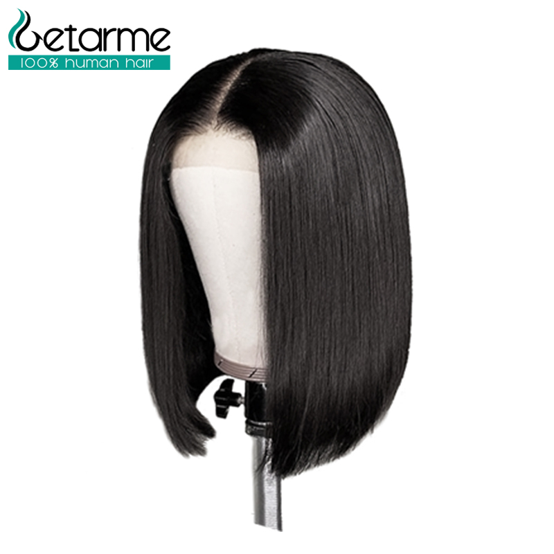 Image 3 - 4x4 Closure Wig Peruvian Short Bob Wigs Lace Closure Human Hair Wigs For Black Women Straight Lace Wig Pre Plucked Non Remy Hair-in Lace Front Wigs from Hair Extensions & Wigs