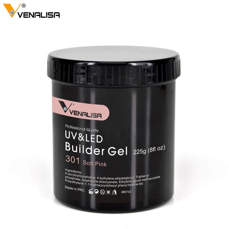 225g Venalisa Camouflage imbiber UV LED Gel ongles Art Salon cosmétiques Transparent UV couverture Gel ongles extension claire constructeur Gel