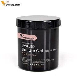 225g camuflaje Venalisa empapa de Gel UV LED para uñas salón cosméticos transparente UV cubierta Gel extensible Gel claro constructor
