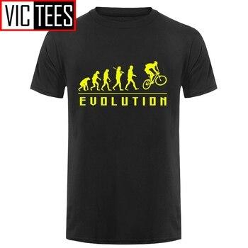 Mężczyźni zabawny prezent urodzinowy dla brata chłopiec przyjaciel tata ojciec syn ewolucja rowerowa koszulka cykl rowerzysta letnie bawełniane koszulki