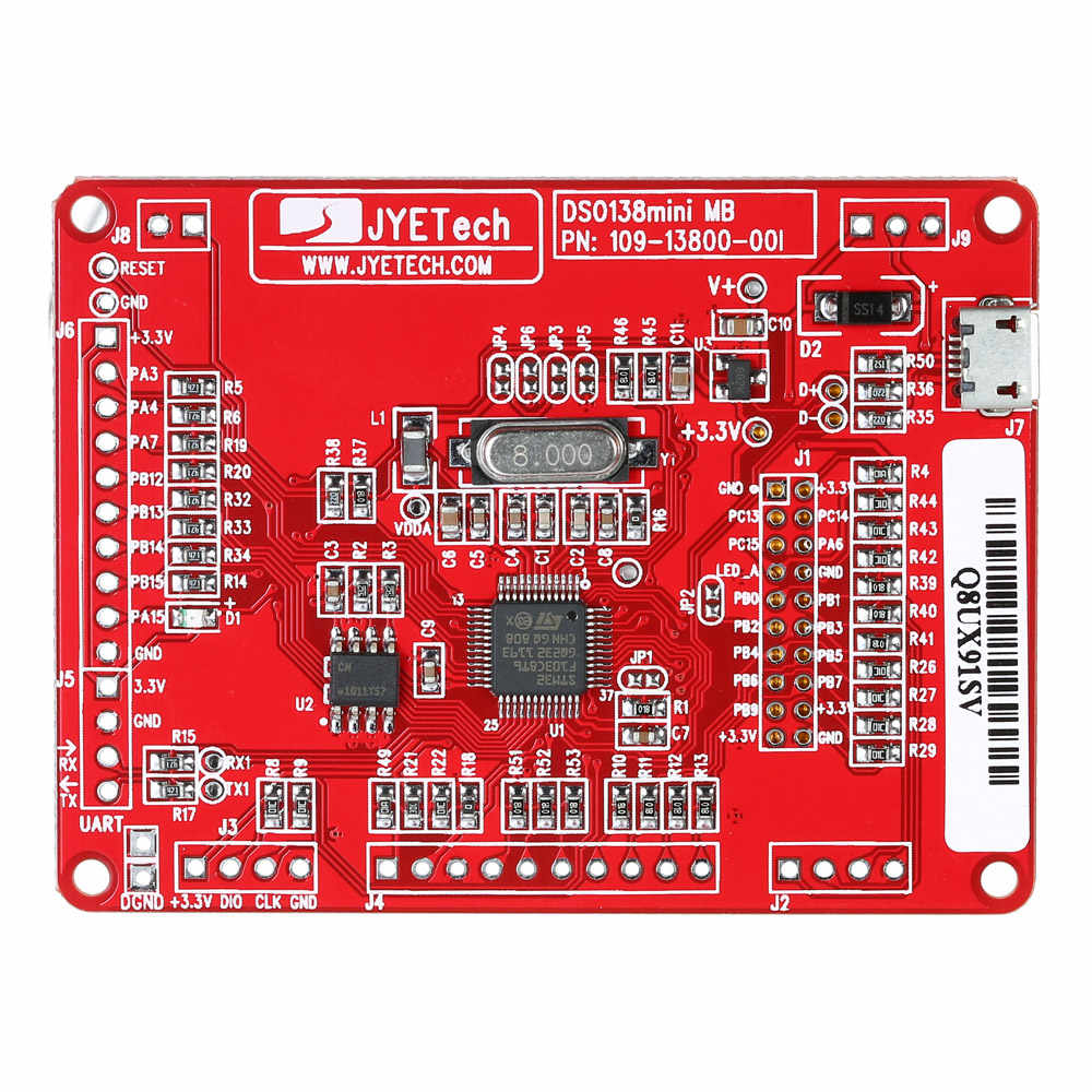 JYE Tech DSO138 13805K Mini ملتقط الذبذبات الرقمي لتقوم بها بنفسك عدة أجزاء مصلحة الارصاد الجوية قبل ملحوم مجموعة التعلم الإلكتروني راسم الذبذبات