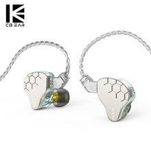 Наушники-вкладыши KBEAR Lark 1DD + 1BA, гибридные металлические Hi-Fi наушники-вкладыши с шумоподавлением, с кабелем 4N, KBEAR KS2 KB04