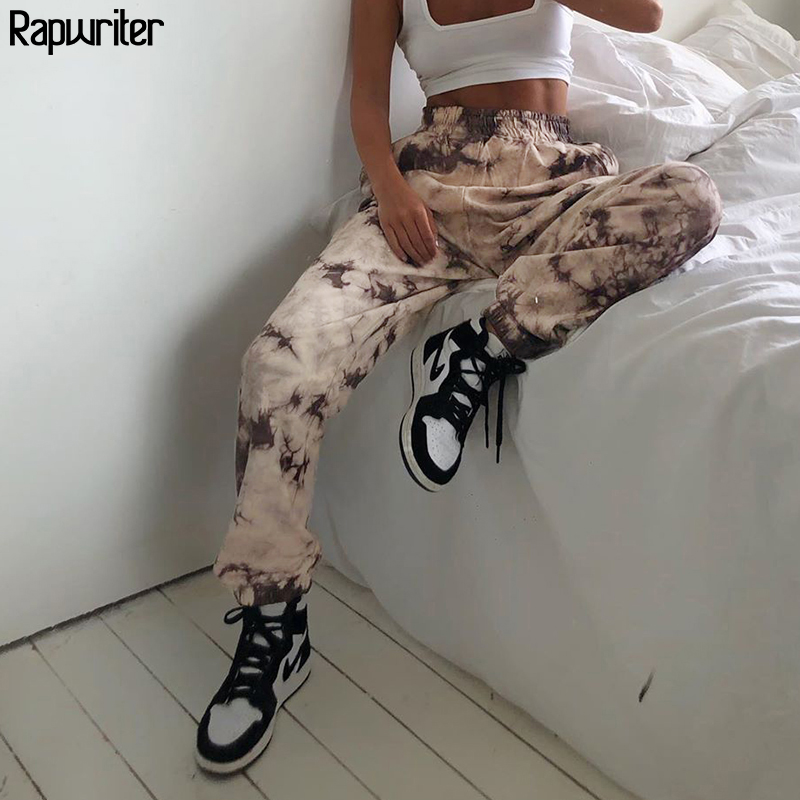 Streetwear Tie Dye Sweatpants Thick Trousers Joggers Women 2020 Fall Winter High Waist harajuku y2k Pants capris mujer Rapwriter
