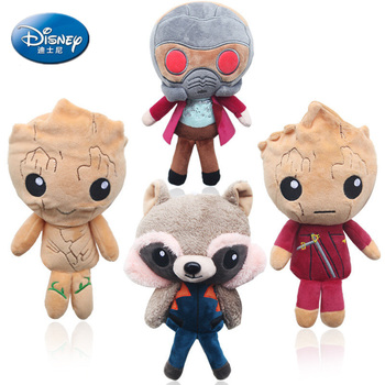 Disney 20CM Guardians Galaxy  Stuffed doll Grootted Plush Toys Tree Man Grootted Rocket Raccoon Soft Plush Dolls Children Gifts