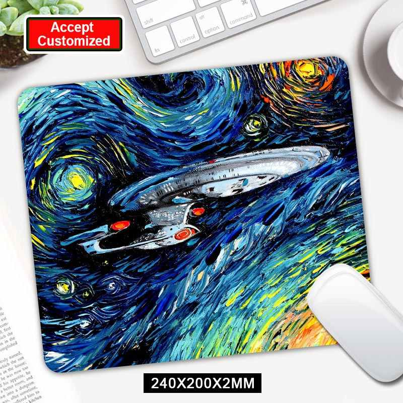 Tapis de souris de jeu imprimé Star Trek tapis de souris de bureau en caoutchouc pour ordinateur portable pour LOL Dota 2