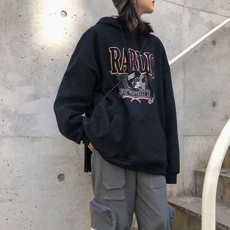 2021 new velvet padded hooded sweatshirt women loose Korean style street clothes women's jacket Harajuku print hoodie 3