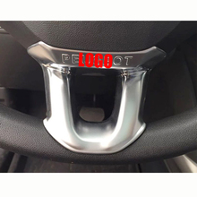 цена на ABS Chrome For Peugeot 2008 2014 2015 2016 2017 2018 Accessories Car Steering Wheel Button Frame Cover Trim Car Styling 2pcs