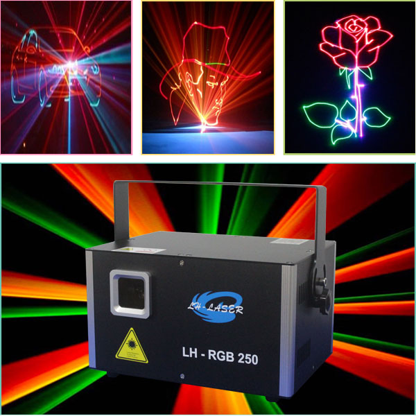 Free Shipping ILDA Pc Control RGB Full Color Animation Stage Laser Lights For KTV Xmas
