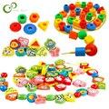 26/70 stücke Cartoon Tier Obst Geometrie Block bespannen perlen Spielzeug Kinder Lernen & Bildung Bunte Produkte Kinder Spielzeug ZXH