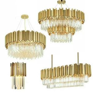 Image 4 - Oturma odası lüks altın Metal Led kolye ışıkları yuvarlak Luminarias ayarlanabilir asılı lamba Led iç mekan aydınlatması Lamparas fikstür